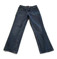 Tony Hawk Boys' Denim Blue Jeans Straight Leg Adjustable Waist Size 12 25x26