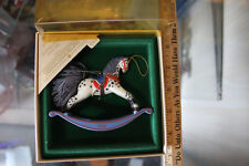 Hallmark Keepsake 1984 ROCKING HORSE Dated Ornament 4th In Series JSH
