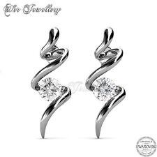 [Swarovski Zirconia] Spiral Earrings