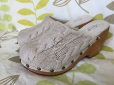 SCHOLL LADIES KNITTED AND WOOD CLOG SIZE 5 UK 38 EUR