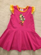 DISNEY STORE MINNIE MOUSE PINK ORANGE AND YELLOW DRESS GIRLS SIZE XS