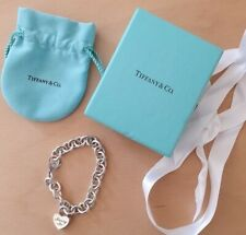 """AUTHENTIC """"RARE"""" TIFFANY & CO SILVER MARRY ME LOCK CHARM BRACELET 36g OF SILVER"""