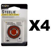 Nite Ize Steelie Magnetic Tablet Socket Replacement Kit For HobKnob (4-Pack)