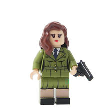 Marvel Heros Captain America Shield Agent Carter Mini Figure Custom fits lego
