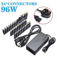 Universal 96W Car Home 34 Tips Power Supply Adapter Charger for Laptop Notebook