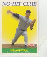 FREE SHIPPING-MINT-1991 Score Texas Rangers  #701 Nolan Ryan NO-HIT CLUB