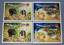 "2002 Malaysia Tame & Wild Animals MS x2 pairs (perf & imperf) Last 2 digits ""84"""