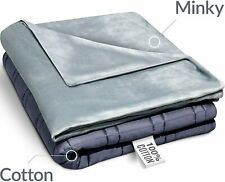 """RONGO Twin Size Weighted Blanket Premium Quality (48"""" x 72"""" 15 lbs Minky Cover)"""