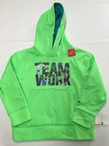 Boys CHAMPION Green Pullover Hoodie Sweater Sz XS(4-5) NEW NWT