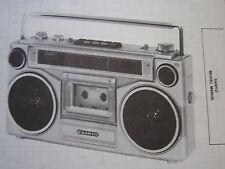 SANYO M9903K BOOMBOX RADIO CASSETTE PHOTOFACT
