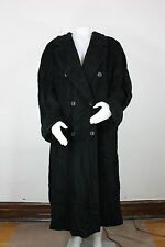 Marina Rinaldinew Persona wool cashmere coat 31 XL Max Mara black oversized