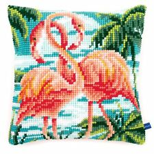 Flamingoes Chunky Cross Stitch Cushion Front Kit 40x40cm Vervaco