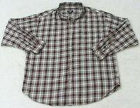 Ralph Lauren Pocket Dress Shirt Long Sleeve Button Up XL Gray Black Red Plaid