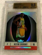 KEVIN DURANT 2006 TOPPS FINEST RED REFRACTOR ROOKIE #102 SERIAL #006/399 BGS 9.5