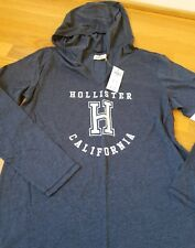 NWT Hollister Graphic Hooded Tee Top By Abercrombie Navy Large