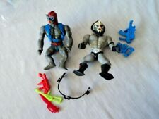 VINTAGE HE MAN ACTION FIGURES (LOT OF 2) AND WEAPONS