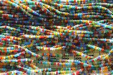 Transparent Mixed Colors Matte  11/0 Czech Glass Seed Beads/ Hank