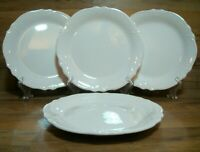 "SET OF 4 - PIER 1 IMPORTS IRONSTONE  MADELINE 9"" SALAD LUNCHEON PLATES - PERFECT"