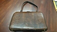 Vintage Lizard Skin Leather Purse Hand Bag