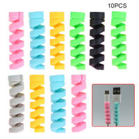 10pcs Protector Saver Cover For Universal Phone USB Charger Cable Cord Accessory