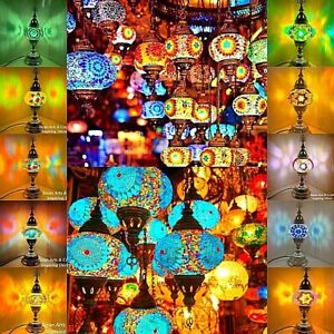 HANDCRAFTED TURKISH/MOROCCAN MOSAIC DESK LAMPS(Approved by UK S. Authorities)