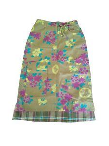 New Oilily Womens Cotton Green Denim Tart Skirt Size 34 (US 4)