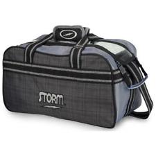 Storm 2 Ball Tote Charcoal Plaid Grey Black Bowling Bag