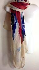Lulu Castagnette  State Of America   Large Rectangle Flag Shape  Scarf