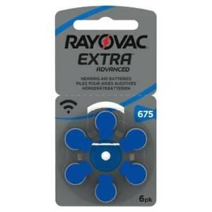 Rayovac Extra Mercury Free Hearing Aid Batteries Size 675 BLUE 60 batteries