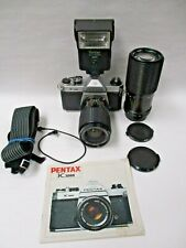 Pentax K1000 2 lens outfit 35-70mm zoom & 80-200mm zoom lens great for student