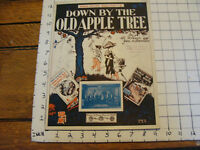 Vintage sheet music: DOWN BY THE OLD APPLE TREE by Wilson & Brennan, 1922