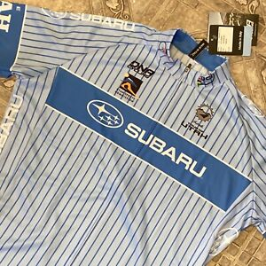 NEW DNA Cycling XL White Blue Jersey Short Sleeve Life Utah Elevated 2015 Mens