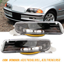 Pair L&R Fog Lights Driving Lamps For 99-01 BMW 3 Series E46 325i 330i 328i 4D