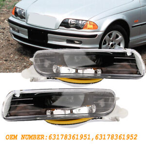 Pair L&R Fog Lights Driving Lamps For 99-01 BMW 3 Series E46 325i 330i 328i 4D