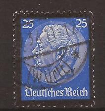 1934 Paul von Hindenburg's death 25 Pf very fine used, Michel 553.