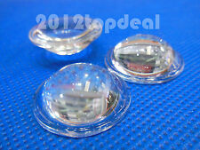 2pcs High Power LED 28mm convex lens optical glass led lens