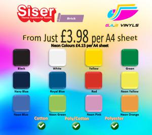 A4 sheets- Siser Easyweed Brick 1000 PREMIUM  HTV Vinyl UK IRON ON