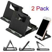 2-Pack Phone Holder Foldable Desk Stand Multi-Angle Mount For iPhone 12 Samsung