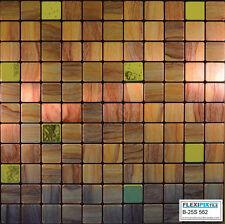 FlexiPixTile- Aluminum Peel & Stick Mosaic Tile Kitchen Backsplash Bath - Woodie
