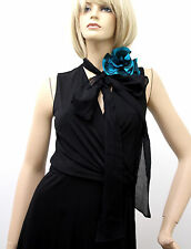 $1795 NEW Authentic Gucci Runway Dress w/ Flower Scarf Black XS 277881