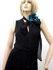 $1795 NEW Authentic Gucci Runway Dress w/ Flower Scarf, Black , M, 277881