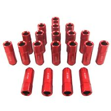 RED RACING 12X1.5MM ALUMINUM WHEEL EXTENDED LUG NUT FOR CIVIC INTEGRA EG EK 20PC