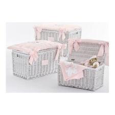Baule portagiochi in vimini - Fiocco - piccolo Nanan 52032R rosa
