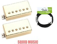 Seymour Duncan SH-55b & SH-55n Seth Lover Gold Set ( FREE FENDER 18FT CABLE )