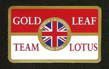Gold Leaf Team Lotus World Champions Sticker, Vintage Sports Car Racing Decal