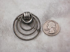 Vintage WRE W E Richards Co. Sterling Silver Modernist Circular Pin Brooch