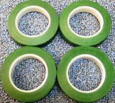 "4 ROLLS 1/2"" X 60' GREEN FLORAL STEM WRAP TAPE FREE SHIPPING! GREAT FOR CORSAGE!"
