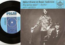 BJÖRN ULVAEUS & BENNY ANDERSON  HEJ GAMLE MAN!  SWEDISH 45+PS 1970 ABBA BLUE TOP