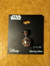 STAR WARS DEATH STAR PENDANT NECKLACE STERLING SILVER Disney GALACTIC EMPIRE
