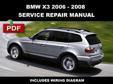 New listing 2006 - 2008 Bmw X3 (E83) Service Repair Workshop Maintenance Manual